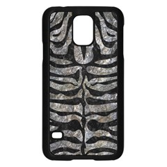 Skin2 Black Marble & Gray Stone (r) Samsung Galaxy S5 Case (black)