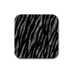 Skin3 Black Marble & Gray Stone Rubber Square Coaster (4 Pack)