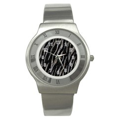 Skin3 Black Marble & Gray Stone Stainless Steel Watch