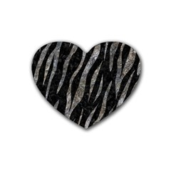 Skin3 Black Marble & Gray Stone Heart Coaster (4 Pack)