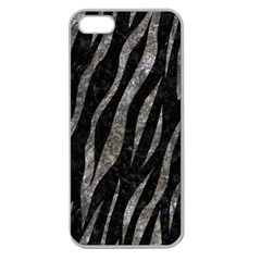 Skin3 Black Marble & Gray Stone Apple Seamless Iphone 5 Case (clear)