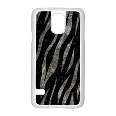 Skin3 Black Marble & Gray Stone Samsung Galaxy S5 Case (white)
