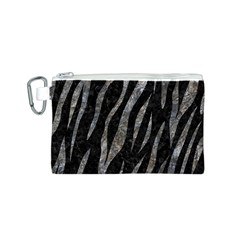 Skin3 Black Marble & Gray Stone Canvas Cosmetic Bag (s)