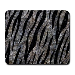 Skin3 Black Marble & Gray Stone (r) Large Mousepads