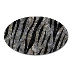 Skin3 Black Marble & Gray Stone (r) Oval Magnet