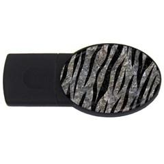 Skin3 Black Marble & Gray Stone (r) Usb Flash Drive Oval (2 Gb)