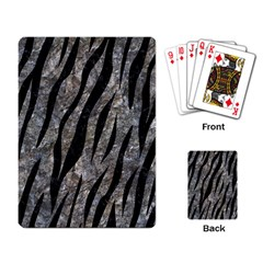 Skin3 Black Marble & Gray Stone (r) Playing Card