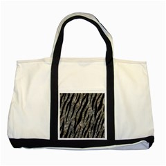 Skin3 Black Marble & Gray Stone (r) Two Tone Tote Bag