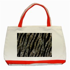 Skin3 Black Marble & Gray Stone (r) Classic Tote Bag (red)