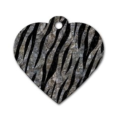 Skin3 Black Marble & Gray Stone (r) Dog Tag Heart (two Sides)