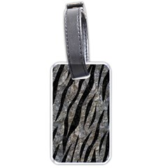 Skin3 Black Marble & Gray Stone (r) Luggage Tags (two Sides)