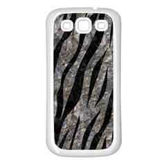 Skin3 Black Marble & Gray Stone (r) Samsung Galaxy S3 Back Case (white)