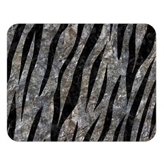 Skin3 Black Marble & Gray Stone (r) Double Sided Flano Blanket (large)