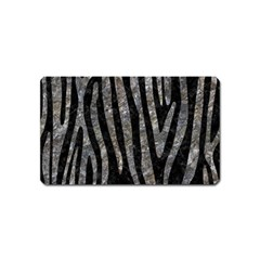 Skin4 Black Marble & Gray Stone (r) Magnet (name Card)