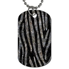 Skin4 Black Marble & Gray Stone (r) Dog Tag (one Side)
