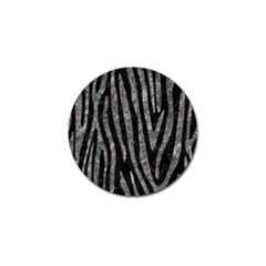 Skin4 Black Marble & Gray Stone (r) Golf Ball Marker