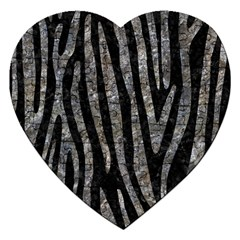 Skin4 Black Marble & Gray Stone (r) Jigsaw Puzzle (heart)