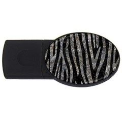 Skin4 Black Marble & Gray Stone (r) Usb Flash Drive Oval (4 Gb)