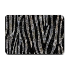 Skin4 Black Marble & Gray Stone (r) Small Doormat