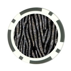 Skin4 Black Marble & Gray Stone (r) Poker Chip Card Guard (10 Pack)