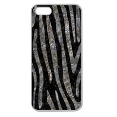 Skin4 Black Marble & Gray Stone (r) Apple Seamless Iphone 5 Case (clear)