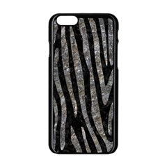 Skin4 Black Marble & Gray Stone (r) Apple Iphone 6/6s Black Enamel Case
