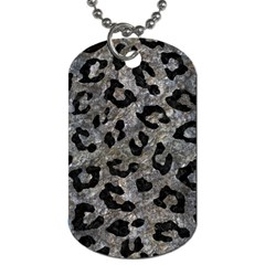 Skin5 Black Marble & Gray Stone Dog Tag (two Sides)
