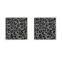 Skin5 Black Marble & Gray Stone Cufflinks (square)
