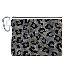 Skin5 Black Marble & Gray Stone Canvas Cosmetic Bag (l)