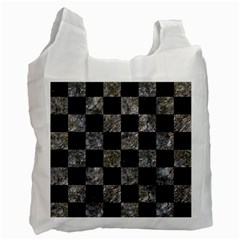 Square1 Black Marble & Gray Stone Recycle Bag (one Side)