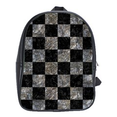 Square1 Black Marble & Gray Stone School Bag (large)