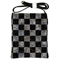 Square1 Black Marble & Gray Stone Shoulder Sling Bags