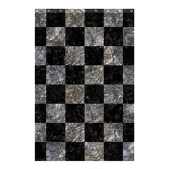 Square1 Black Marble & Gray Stone Shower Curtain 48  X 72  (small)