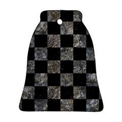 Square1 Black Marble & Gray Stone Ornament (bell)