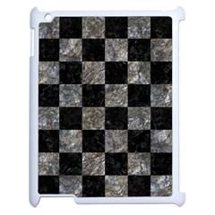 Square1 Black Marble & Gray Stone Apple Ipad 2 Case (white)