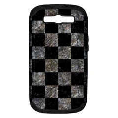 Square1 Black Marble & Gray Stone Samsung Galaxy S Iii Hardshell Case (pc+silicone)