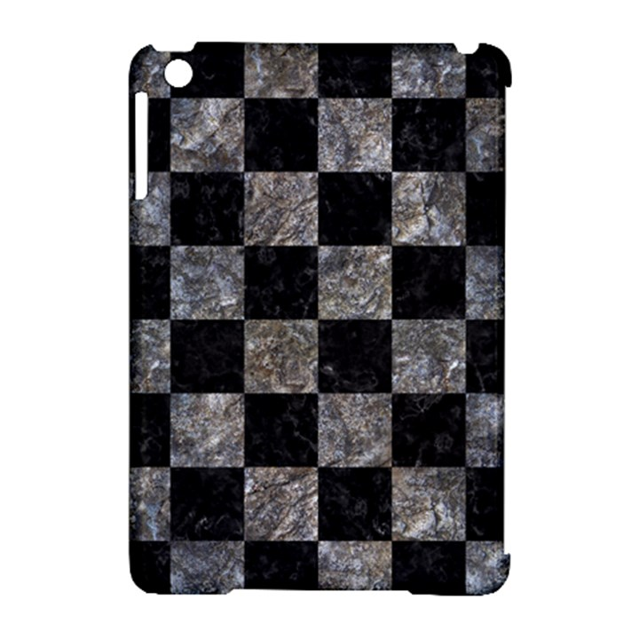 SQUARE1 BLACK MARBLE & GRAY STONE Apple iPad Mini Hardshell Case (Compatible with Smart Cover)