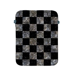 Square1 Black Marble & Gray Stone Apple Ipad 2/3/4 Protective Soft Cases