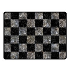 Square1 Black Marble & Gray Stone Double Sided Fleece Blanket (small)
