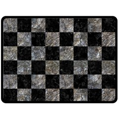 Square1 Black Marble & Gray Stone Double Sided Fleece Blanket (large)