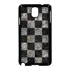 Square1 Black Marble & Gray Stone Samsung Galaxy Note 3 Neo Hardshell Case (black)