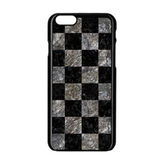 Square1 Black Marble & Gray Stone Apple Iphone 6/6s Black Enamel Case