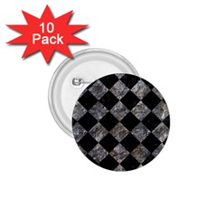 Square2 Black Marble & Gray Stone 1 75  Buttons (10 Pack)