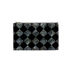 Square2 Black Marble & Gray Stone Cosmetic Bag (small)