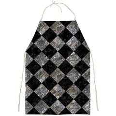 Square2 Black Marble & Gray Stone Full Print Aprons