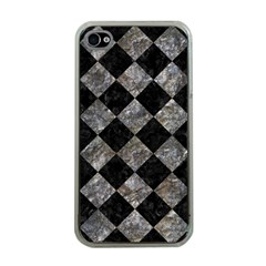 Square2 Black Marble & Gray Stone Apple Iphone 4 Case (clear)