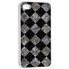Square2 Black Marble & Gray Stone Apple Iphone 4/4s Seamless Case (white)