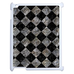Square2 Black Marble & Gray Stone Apple Ipad 2 Case (white)