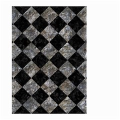 Square2 Black Marble & Gray Stone Small Garden Flag (two Sides)
