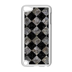 Square2 Black Marble & Gray Stone Apple Ipod Touch 5 Case (white)